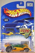 2002 Hot Wheels #33 First Editions 21/42 OPEN ROAD-STER Yellow w/Pr5 Spoke Wheel - $6.20