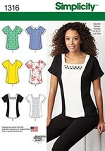 Simplicity American Sewing Guild Pattern 1316 Misses Top with Neckline Variation - $13.48
