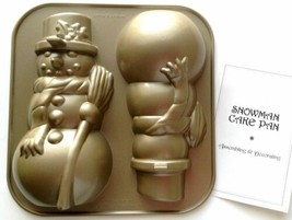 William Sonoma Nordic Ware Snowman Cake Pan Christmas Holiday Winter - $39.55