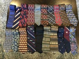 Tommy Hilfiger,Van Heusen and more lot of 18 Assorted Silk Neckties Multi-Color  image 3