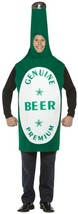 Beer Bottle Costume Adult Alcohol Green Tunic Halloween Party Unique Che... - £36.97 GBP