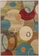 """2x8 (1'10"""" x 7'6"""") Runner Modern Contemporary Circles Red Blue Green Area Rug - $79.00"""