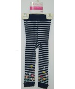 RuffleButts RLKNV12WSFL Navy Striped Ruffle Footless Tights Size 12 to 2... - $9.00