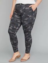 Lane Bryant Gray Camo Camouflage Utility Skinny Pants Studded Hem Plus 22 Nwt - $49.50