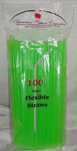 Straws Flex / Flexible Drinking Straws - Lime Green - Luau - Wedding Rec... - $10.56 CAD+