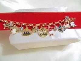 Holiday Lane Gold-Tone Holy Christmas Story Charm Bracelet CHR118 $29 - $13.43