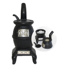 Cast Iron Pot Belly Stove Salt and Pepper Shakers - $9.95