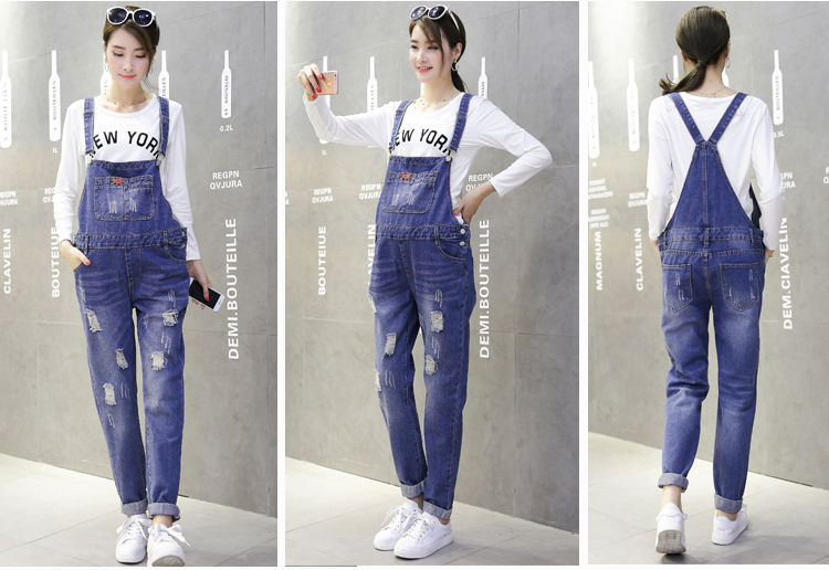 d78ac30037b0 Maternity Trousers Pregnant Denim Overalls Belly Pants Adjustable Jumpsuits