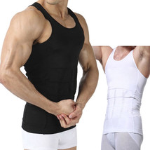 Magic Men's Body Shaper Slimming Shirt Tummy Waist Vest lose Weight Underwe - $12.85