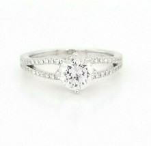 Hearts on Fire CZ Engagement Ring w/Dia's 18K White Gold  $2,700 Retail ... - $1,633.50