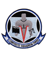 """5"""" NAVY VC-3 BLUE NEMESIS COMPOSITE SQUADRON THREE EMBROIDERED PATCH - $18.04"""