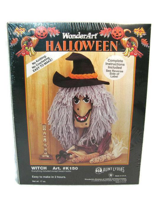 Caron Int'l Aunt Lydia's Yarn Kit Wonder Art Craft Halloween Witch Art K150  - $24.74