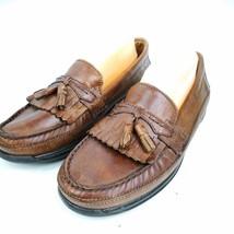 Dockers Mens Brown 10M Leather Dress Casual Tassel Slip-on Comfort Loafe... - $19.99