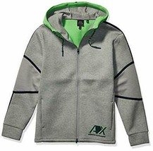 A|X Armani Exchange Men's Hooded Zip up Sweatshirt, BROS BC09 Outs/C. GR, XL - $74.24