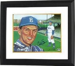 Carl Erskine signed Brooklyn Dodgers 8x10 Photo Custom Framed (portrait) - $69.00