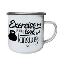 Exercise Is My Love Language Retro,Tin, Enamel 10oz Mug j704e - $246,74 MXN