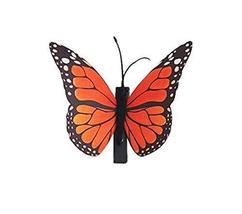 Set of 3 Butterfly Hair Pin Fashion Hair Clip Creative Hairpin,3.15'',Orange
