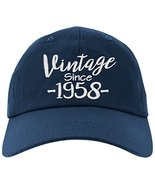 Cap 1958-60th Birthday Gift, Vintage Aged To Be Perfected Since 1958 Bas... - $19.79