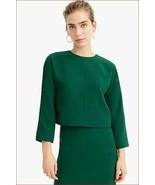 new J.CREW 365 women blouse top shirt L2327 green 4 MSRP - $33.81