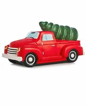 Martha Stewart Red Classic Truck Cookie Jar Holiday Collection Ceramic New - $52.24