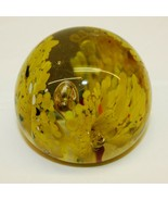 Vintage Yellow Glass Paperweight  - $24.74