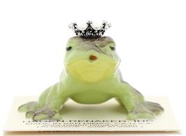 Hagen-Renaker Miniature Frog Prince Kissing Birthstone 10 October Opal image 1