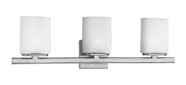 "Eurofase E19419015 ""Illuminations"" 3 Bulb Bathroom Light Chrome And Opal White - $84.14"
