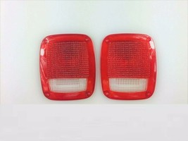 Acrylic Rear Tail Light Lens Set Compatible with Jeep Wrangler CJ 76-86 TJ YJ