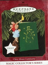 1997 New in Box - Hallmark Keepsake Christmas Ornament - Chris Mouse Lum... - $7.91