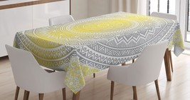 Floral Mandala Tablecloth Ombre Ethnic Tribal Art Dining Table Linen Cov... - $28.12
