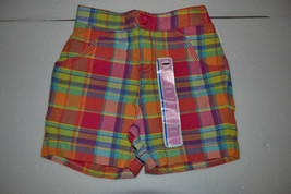 Circo Girls Infant Toddler  Plaid Shorts  Size  24M  or 2T NWT NEW - $3.39