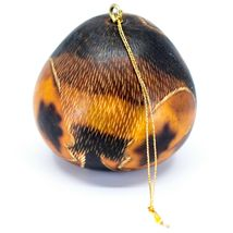 Handcrafted Carved Gourd Art Long Hair Cat Kitten Kitty Ornament Made in Peru image 3