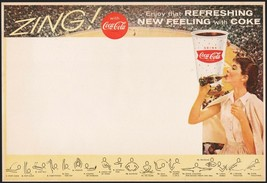 Vintage sports program COCA COLA Zing Refreshing New Feeling Lon Keller ... - $8.09