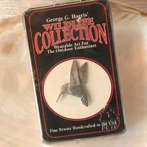 Estate George G. Harris' Wildlife Collection Carved Pewter HUMMINGBIRD L... - $12.19