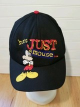 "Vintage 90s Disney Mickey ""He's Just A Mouse, Yeah Right"" Snapback Goofy... - €12,35 EUR"