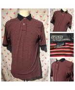 Vintage Ralph Lauren Polo Mens L Stripe Soft Cotton Short Sleeve Shirt A... - $24.50