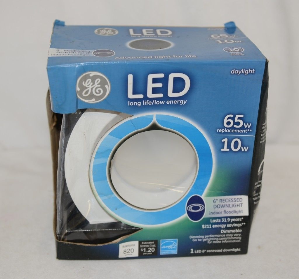 GE 20390 Six Inch LED Recessed Downlight 820 Lumens 10 Watts