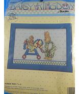 "Daisy Kingdom Counted Cross Stitch Kit Bucilla Horsie Ride 7 x 5"" w frame sealed - $6.92"