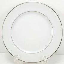 "Mikasa Citation Bread Plate 6.5"" White Platinum Trim 5428 - $7.92"