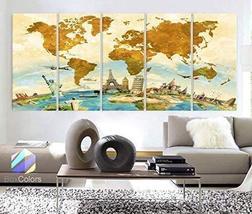 "Original by BoxColors Xlarge 30""x 70"" 5 Panels 30x14 Ea Art Canvas Print... - $124.99"