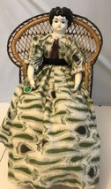 """Vintage Doll Signed By Dorothy Lotte Porcelain And Felt Cloth 19"""" Tall - $14.85"""