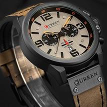 2018 Chronograph Men Watch CURREN Top Brand Luxury Quartz Men Wristwatches Male  - $44.31