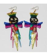 VOODOO DOLL Earrings Handmade Large  - $19.23