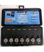 """Armstrong 5MH43 7 Piece Eliminator 1/2"""" Drive Fractional Hex Driver Set USA - $41.58"""