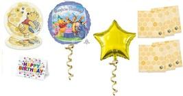 Winnie The Pooh Plates Napkins Party Pack 1st Birthday Balloon Decoration 27PCS - $22.72
