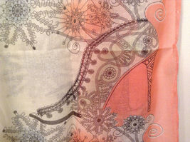 MAD fashion New scarf  Pastels Floral and High Heel Shoe Pattern choice of color image 5