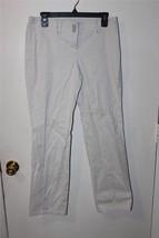 W8007 Womens ANN TAYLOR LOFT Tan Khaki Marisa Slim Cut CAPRIS Pants Slac... - $14.50