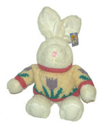 MTY International Bunny Rabbit Sweater Plush 19 inch with Tag Stuffed An... - $24.63