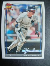 1991 Topps DON MATTINGLY Baseball Card #100 New York Yankees - $9.90