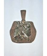 Vintage Bead & Sequin Evening Bag Finger Carry Handle Gun Metal Gray + M... - $45.00
